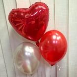 Balónek stříbrný metalický 061