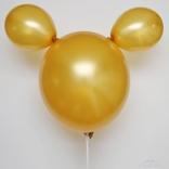 Balónek bílý metalický 070