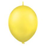 Balónek řetězový 1ks - žlutá