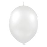 Balónek řetězový metallic 1ks - stříbrná