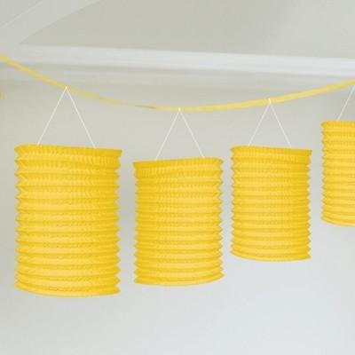 Lampionové girlandy žluté 3,65m