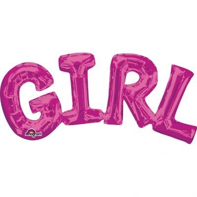 GIRL foliový balónek 55cm x 25cm