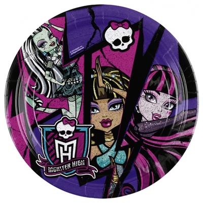 Monster High 2 talíře 8ks 23cm