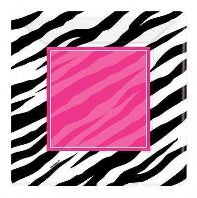 Zebra party talíře 8ks 25,4cm