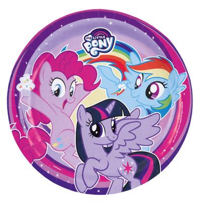 My Little Pony talíře 8 ks, 23 cm