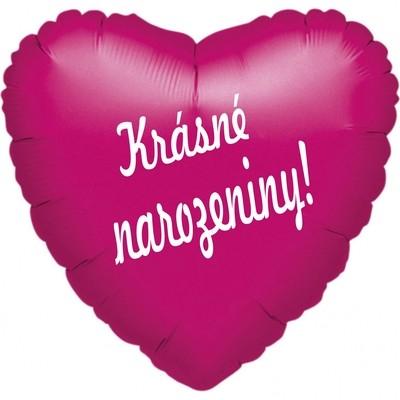 folie bal. srdicko tmavě růžové krasne narozeniny !