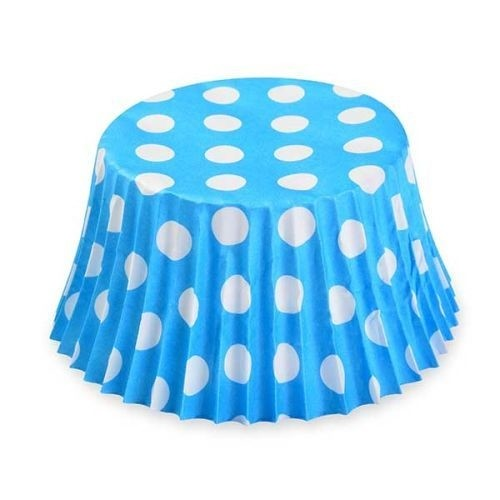 5aac703ae3a Košíčky modré s puntíky 50ks