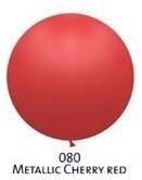 Obří metal. balónek - JUMBO - 080 CHERRY RED