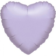 Balónek srdce foliové světle fialové
