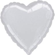 Balónky fóliové srdce - 52902 SILVER HEART