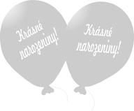 Balónek stříbrný Krásné narozeniny!
