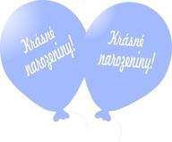 Balónek světle modrý Krásné narozeniny!