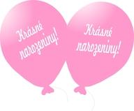 Balónek světle růžový Krásné narozeniny!