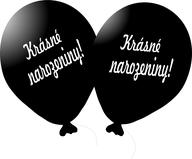 Balónek černý Krásné narozeniny!