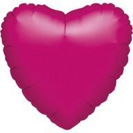 Balonek srdce foliový fuchsia metallic