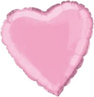 Srdce - balónek fóliový - PASTEL PINK HEART