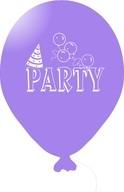Balónky PARTY fialové 5ks
