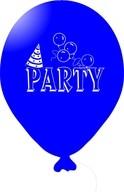 Balónky PARTY modré 5 ks