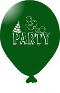 Balónky PARTY tmavě zelené 5ks