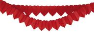 Girlandy srdce červené 2 ks - 2 m