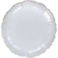 Balónek kruh Silver Metallic 43cm