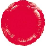 Balónek kruh Red Metallic 43cm
