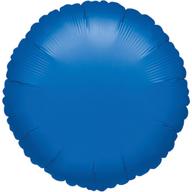 Balónek kulatý Blue Metallic 43cm