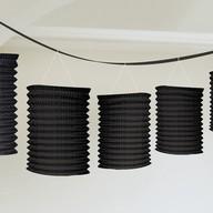 Lampionové girlandy černé 3,65m