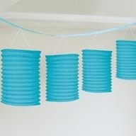 Lampionové girlandy světle modré 3,65m