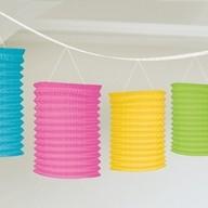 Lampionové girlandy barevné 3,65m