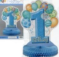 1. narozeniny dekorace na stůl modrá 35,5cm