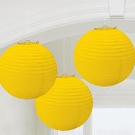 Lampiony žluté 3 ks 24cm