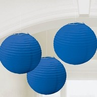 Lampiony modré 3 ks 24 cm