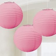 Lampiony světle růžové 3 ks 24 cm
