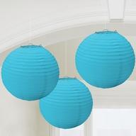 Lampiony světle modré 3ks 24cm