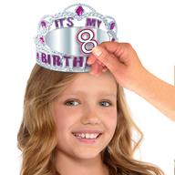 Korunka na hlavu k narozeninám s nalepovacím číslem pro holky