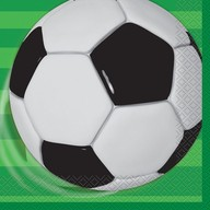 Fotbal ubrousky 16ks 33cm x 33cm 2-vrstvé