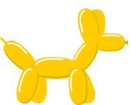 Tvarovací balónek goldenrod