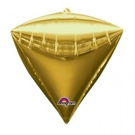 Diamant zlatý balónek foliový 38 x 43 cm