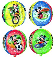 Mickey Mouse foliový balónek kulatý 38x40cm