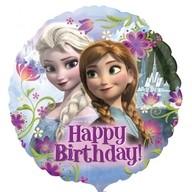 Frozen šťasné narozeniny foliový balónek 45cm