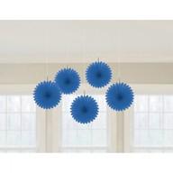 Závěsné dekorace modré 5 ks 15,2 cm