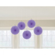 Závěsné dekorace fialové 5 ks 15,2 cm