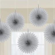 Závěsné dekorace stříbrné 5 ks 15,2 cm