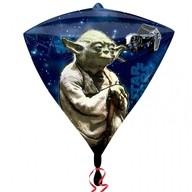 Star Wars foliový balónek diamant 38cm x 43cm