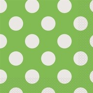 Ubrousky zeleno - bílé tečky 16ks