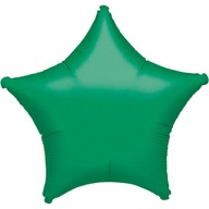 Balónek hvězda Green Metallic