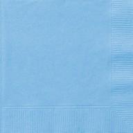 Ubrousky světle modré 20ks 2-vrstvé 33cm x 33cm