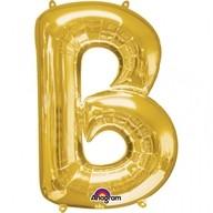 Písmena B zlaté foliové balónky 58cm x 83cm