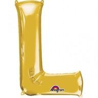 Písmena L zlaté foliové balónky 58cm x 81cm